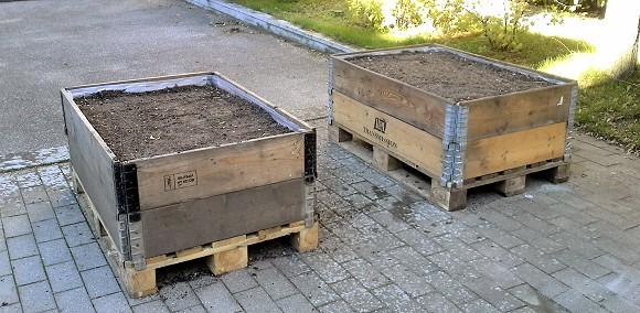 Havekasser af paller og pallerammer